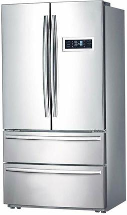 20.7 cu ft Counter Depth French Door Refrigerator Bottom Fre
