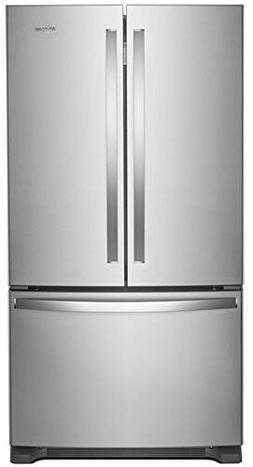 "'Whirlpool 36"" Print Resist Black Stainless French Door Coun"