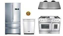 """Thor Kitchen 4-Piece Bundle with 48"""" 6 Burner Stainless Stee"""