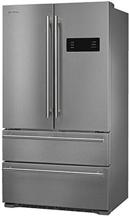 "Smeg 36"" French Door Counter-Depth Refrigerator with Automat"