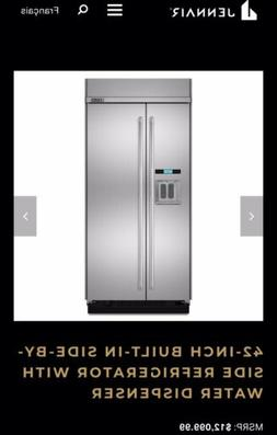 """Jenn-Air JS42PPDUDE 42"""" Built In Side By Side Refrigerator C"""