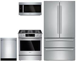 """Bosch 4-Piece Kitchen Package with B21CL81SNS 36"""" Counter De"""