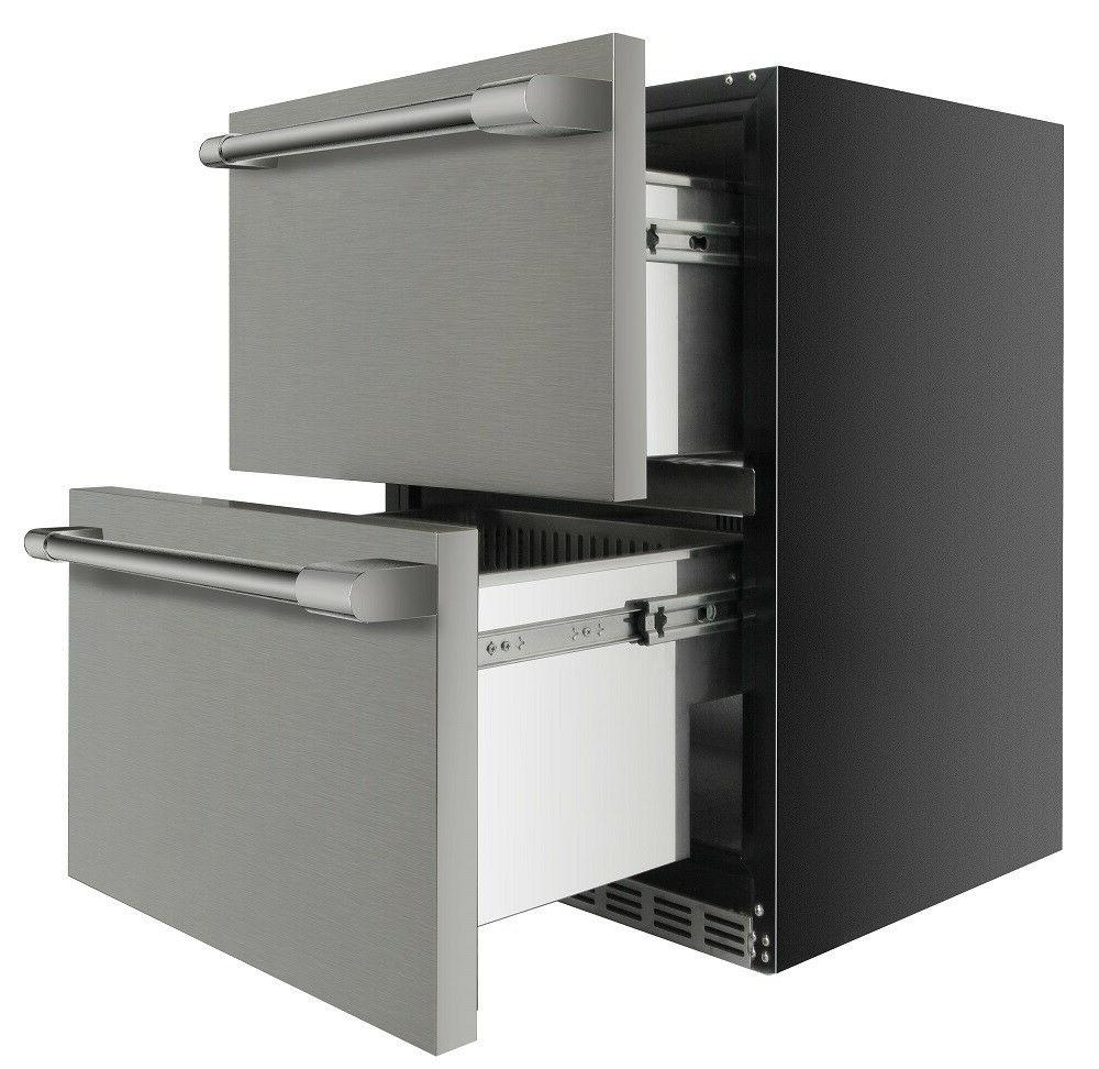 Thor 24 Double Drawer Counter Refrigerator Counter Depth