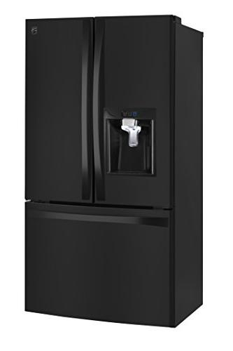 Kenmore 4675049 cu. ft. French Door Bottom Refrigerator Black Works with Alexa, includes hookup