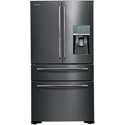 SAMSUNG Black Stainless 22 French 4 Door Counter Depth Refri