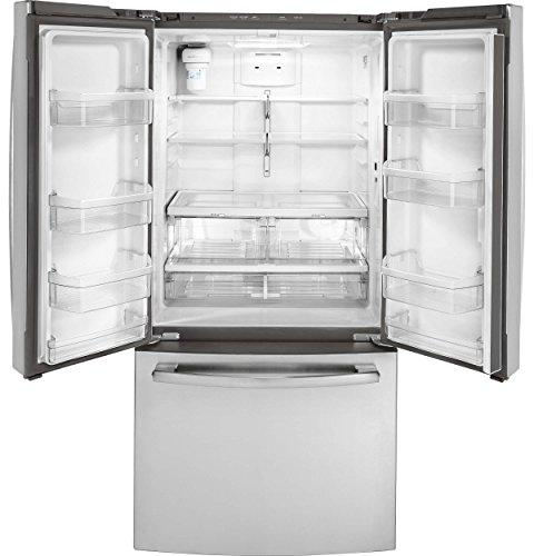 GE GWE19JSLSS Inch Counter Depth Refrigerator with ft. Capacity in Stainless Steel