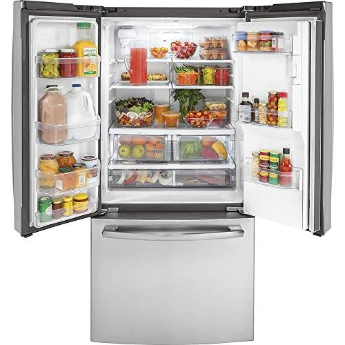 GE Freestanding Counter Depth Side by Side Refrigerator in Stainless