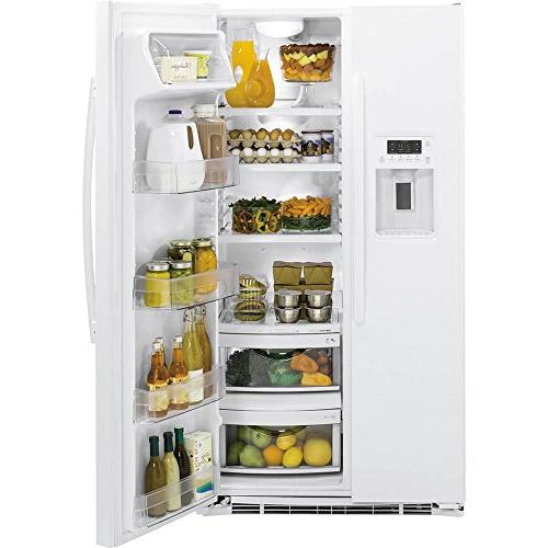 GE Cu. Ft. White Side-by-Side Refrigerator
