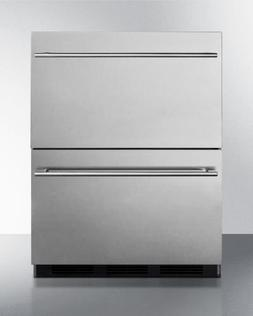"SP6DS2D7ADA 24"""" 5.4 cu.ft. Commercially Approved Double Dra"