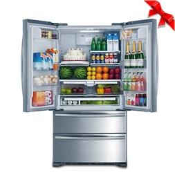stainless steel french door refrigerator with auto