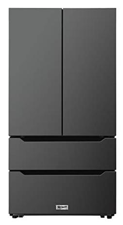 Thor Kitchen 36inch Wide Black Stainless Steel Refrigerator